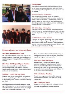Kickboxing Newsletter May 2017