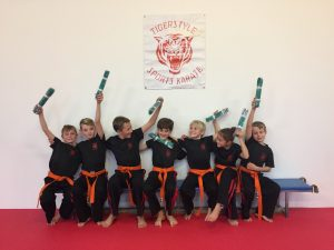 Grading orange to green belts
