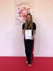 Kate with instructors certificate