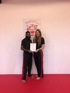 Gurmare and Kate with instructors certificate