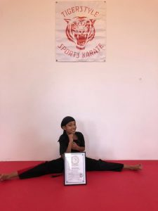 Denis with instructors certificate