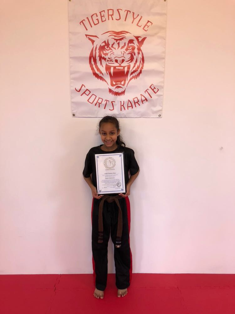 Summer with her certificate